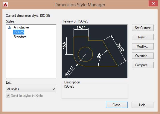 dimension style manager